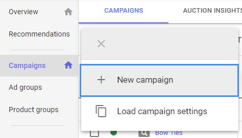YouTube Ads setup 2 - create campaign 2