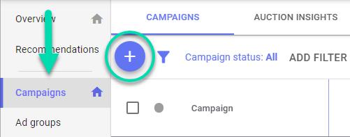 YouTube Ads setup 1 - create campaign