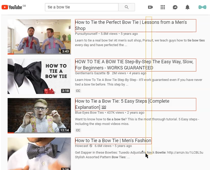 Getting YouTube ad placements manually with Linkclump