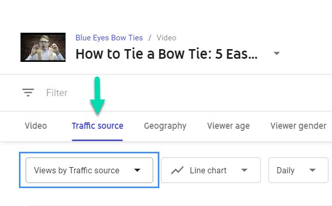 YouTube Studio - Traffic sources